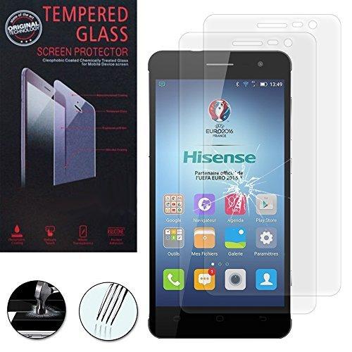 HCN PHONE ® Schutzfilm Display Transparent Serie Hisense - 2 Folien Hartglas, HISENSE C20 5.0''/ King Kong II C20