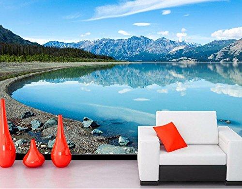 YSDECOR Benutzerdefinierte Kanada See Berge Steine   Landschaft See Natur Tapete Wohnzimmer Tv Sofa Wand Schlafzimmer 3D Tapete Wandbilder