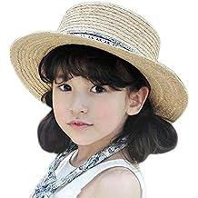 Nikgic Niños Manera Netter pequeño balón Decoración Sombrero de Paja  Breathable Comodidad de Sol Sombrero Tiempo ae862675394