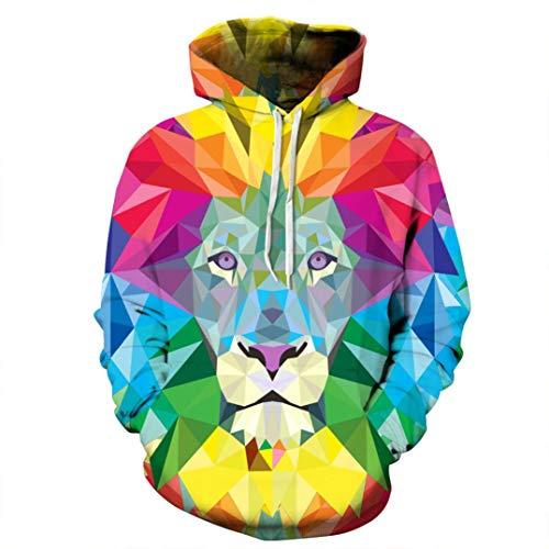 Kanpola Sweatshirt Herren Slim Fit Hoodie Long Sleeve 3D Druck Muster Pullover Kapuzenpullover (EU-46/CN-S/M, A9) -