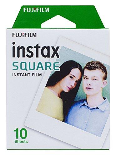 Fujifilm Instax Square Film 10 Fogli Pellicola Istantanea, Formato 62 X 62 mm, Bianco