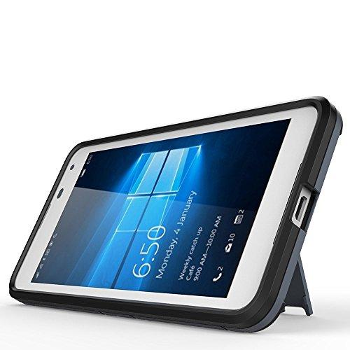 Nokia 6 Coque,EVERGREENBUYING Ultra Slim léger 2 en 1 TA-1000 Cases Housse Etui Premium Kickstand Bumper Hard Shell Back Coque Case Pour NOKIA 6 (5.5 inch) Saphir Gris