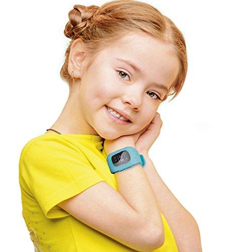 EASYmaxx Kinder Smart Watch | Smartwatch| Armbanduhr | GPS, Telefon, Sprachnachrichten, Standortlokalisierung per App, Ortung, Tracker | Kein Handy notwendig - verwendbar mit Micro Sim Karte - 4