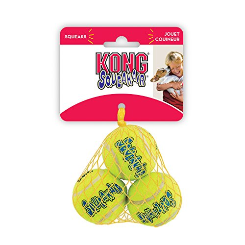 KONG Holiday SqueakAir Balls, Medium, Pack of 3