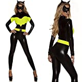 Sexy Catwoman Kostüm Cat Woman Superheld Kostüm Damen Catwoman Kostüm Katze Cosplay Jumpsuit für Fasching Halloween Karneval