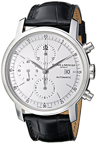 Baume & Mercier Classima Stainless Steel Mens Strap Watch Calendar MOA08591