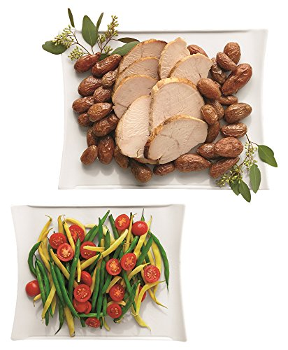 overandback 811113 Serveware Collection 2pc Platter Set, White (Overandback Porzellan)