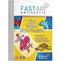 6 x Fast Aid Antiseptic Kids Tattoo Style Plasters x15 preisvergleich bei billige-tabletten.eu