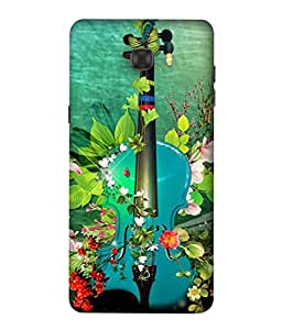 PrintVisa Designer Back Case Cover for Samsung Galaxy C9 Pro (Abstract Illustration Colorful Decorative Vector Leaf Colors)