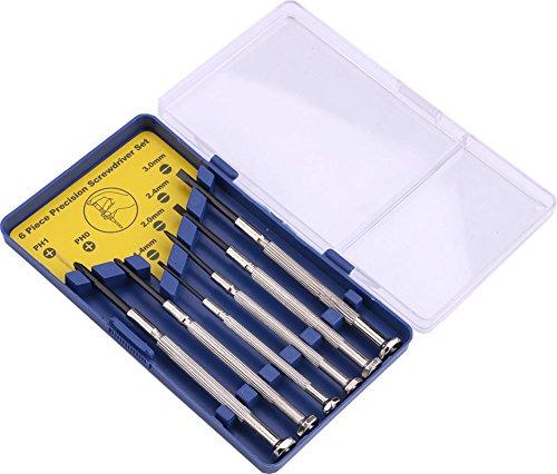 Preisvergleich Produktbild Yeeco 6 Stück Präzisions-Schraubendreher Set Uhr Uhr Reparatur Schraubendreher Werkzeug-Kit Schraubendreher Zubehör-Kit