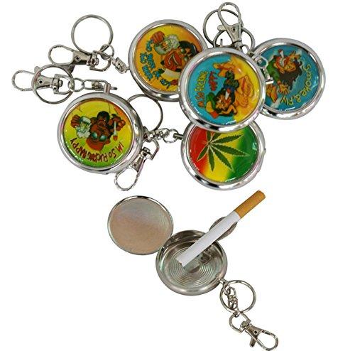 STAR-LINE 12 Mini Aschenbecher mit Schlüsselanhänger I Edelstahl Taschenaschenbecher I Lustige Geschenke beim JGA für Männer/Frauen