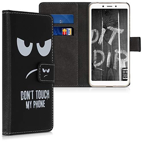 kwmobile Xiaomi Redmi 6A Hülle - Kunstleder Wallet Case für Xiaomi Redmi 6A mit Kartenfächern und Stand