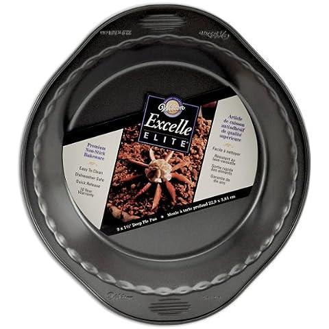 Wilton Excelle Elite profundo Pie pan-round W/con el borde estriado (22,8x 3,8cm