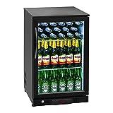 Royal Catering RCGK-108C Frigorifero PiccoloMini Frigo per Bevande Bottiglie Mini Frigorifero Minibar (108 L, Temperatura 2-10 °C, 135 W, 2 ripiani, Doppi Vetri) Nero