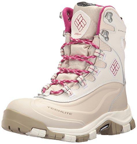 Columbia Women's Bugaboot Plus Omni-Heat Michelin Snow Boot, Sea Salt, Deep Blush, 6 B US (Snow Michelin)