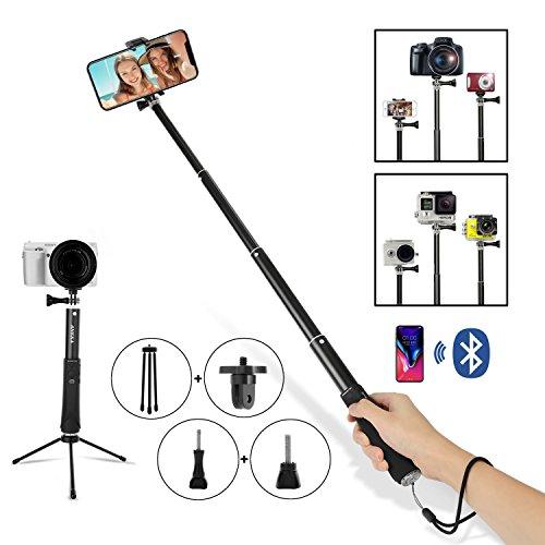 ANKKA Trépied Selfie avec télécommande,Monopode réglable 5 en 1 pour iPhone Android Gopro Tous Les Smartphones de 3,5