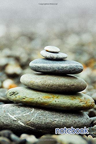 Notebook: 6x9 Cute Lined Journal | Stones Pebbles Stack Pile Zen Balance  Meditation