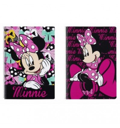 Disney Minnie Mouse Libreta Folio 80 Hojas Tapas duras, 215 x 310 mm (SAFTA 511548066)