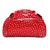 Borsa in tela cerata Weekender bag Borsa da viaggio, per la piscina, sauna, fitness per donna impermeabile, multicolore, vintage, Lunares rosso
