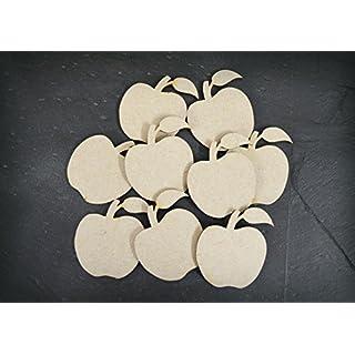 60 mm MDF Apfel aus Holz, Dekoration, 50 Stück