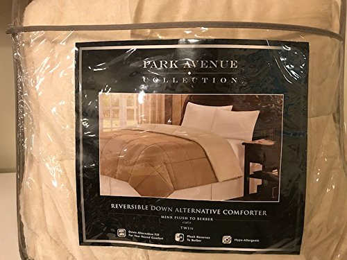 PARK AVENUE Collection Reversible Down Alternative Tröster Twin Tan -