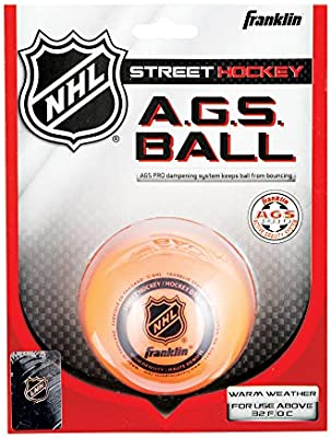 Franklin Streethockey Ball Ags High Density - Pelota / Disco de hockey sobre patines, color naranja