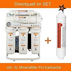 direct source filtre eau osmose inverse avec cartouche de min ral xxl en kit aucun r servoir. Black Bedroom Furniture Sets. Home Design Ideas