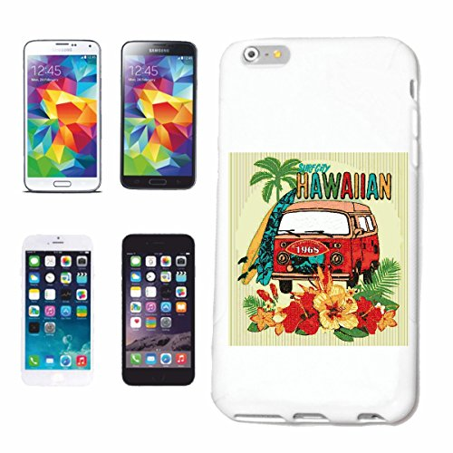 Reifen-Markt Handyhülle iPhone 6S SURF City Hawaii SURFEN Beach Surfbrett Longboard Wellenreiten Wellen ANFÄNGER Shop Hardcase Schutzhülle Handycover Smart Cover für Apple iPhone in Weiß