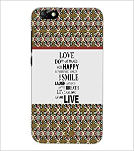 PrintDhaba Quote D-3226 Back Case Cover for HUAWEI HONOR 4X (Multi-Coloured)