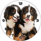 HTI-Line Wanduhr Hund Berner Sennenhund Wanddekoration Zeitmesser
