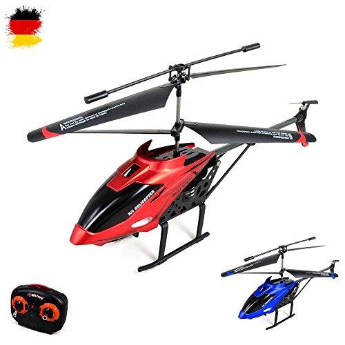 3.5 Kanal RC ferngesteuerter Hubschrauber mit CRASH-KIT, Modellbau-Helikopter mit Gyro-Technik, Ready-to-Fly Komplett-Set