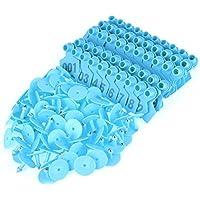 Riuty Etiqueta de plástico de la Etiqueta del oído del Ganado (Blue)