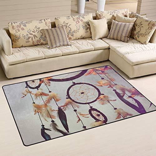 XiangHeFu - Alfombra Antideslizante para salón, Comedor, Dormitorio, Decorativa, atrapasueños, círculos, 5,08 x 2,54 cm, Image 221, 31x20 Inches