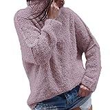 TianWlio Langarmshirt Damen Mode Frauen Lässige Herbst Langarm Plus warme Plüsch Rollkragen T-Shirts Tops Bluse
