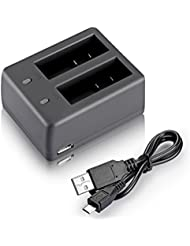 Neewer® NW4000 Dual Cargador USB de Batería para Cámara SJ Cámara de Acción SJ4000 SJ5000 SJ6000 SJ7000