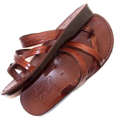 Peter The Fisherman Holy Land Market Unisex Adult Genuine Leather Biblical Sandals