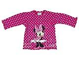 Disney - Minnie Mouse Neugeborene und Baby Mädchen Langarm T-Shirt Top Longsleeve aus Baumwolle, Grösse 68 74 80 86 92 98, Oberteil für 3 6 9 12 Monate oder 1 2 3 Jahre Größe 74