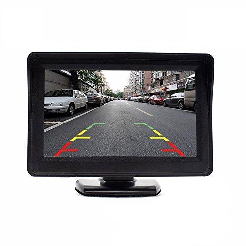 HDMEU 4.3'' inch LCD Auto Monitor Auto Rückfahrkamera Monitor Auto Rückfahrmonitor, Universal DVD Player für die Meisten Fahrzeuge, Schwarz LCD-Display (Dvd-player Ge)