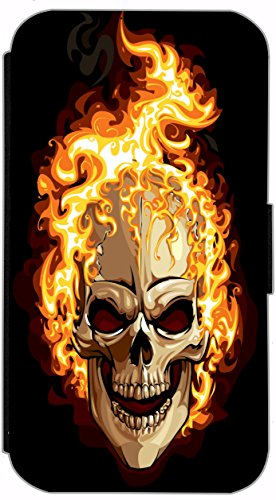 Flip Cover für Apple iPhone 5 5s Design 621 Tattoo Style Schwarz Gold Blau Hülle aus Kunst-Leder Handytasche Etui Schutzhülle Case Wallet Buchflip (621) 614