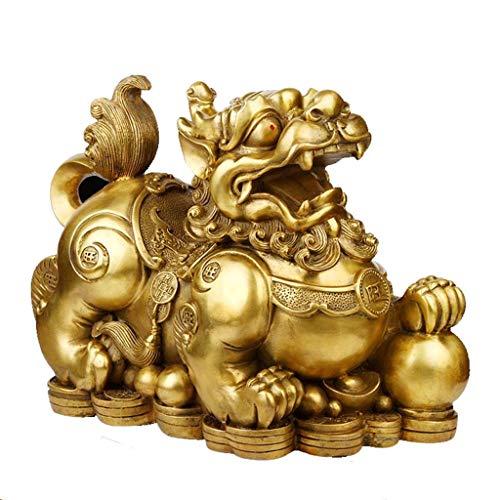 WSY Haus Handwerk Erwachsene Geschenk Goldene Tier Ornamente Nachttisch Dekoration Glück Schmuckstücke Chinesischen Stil Tier Ornamente (Color : Gold, Size : 15CM)