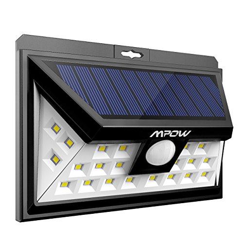 Mpow 24 LED Weitwinkel Solarleuchten, Bewegungs-Sensor-Licht für Garten