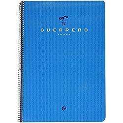 Guerrero 048782 - Cuaderno con lomo, doble raya, 80 hojas
