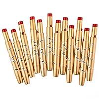 Davidsonne Gold Aluminium einziehbarer Lippenpinsel, 1er Pack (12 x Stück)