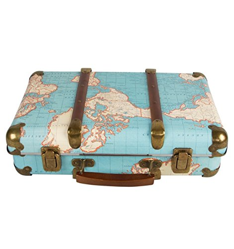 World Map Vintage Miniature Suitcase