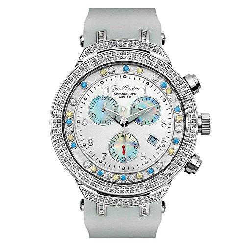 Joe Rodeo diamante orologio da uomo-Master Argento 2.2ctw