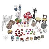 LJY Feengarten Puppenhaus- und Gartendekorations-Set