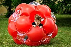 LEXIBOOK Bola Gigante Hinchable, Juego Exterior, soporta hasta 68kg (BG100), Color Rojo