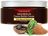 Magnesio Organico Burro di Cacao Corpo Crema con Vitamina E - Migliore Rimozione Smagliature Gravidanza/Crema Preventiva -100% Senza Tossine