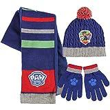 Conjunto gorro guantes bufanda Patrulla Canina Azul Premium