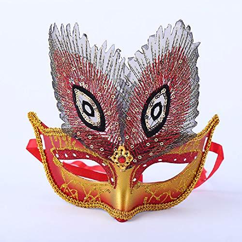 Star Gemalt Pfau Auge Halloween-Maske Tanzparty Erwachsenes Kind Dress Up Lieferungen,A